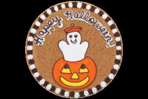 Ghost in Pumpkin Cookie Cake