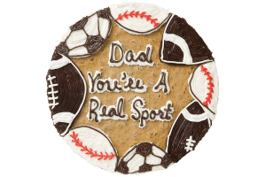 Dad You're A Real Sport Cookie Cake