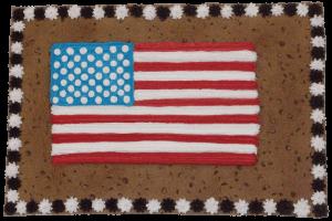 US Flag Cookie Cake