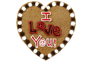 I Love You Cookie Cake