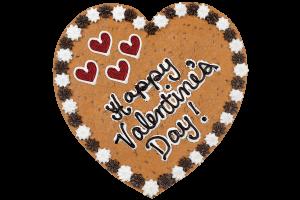 Happy Valentine's Day Cookie Cake