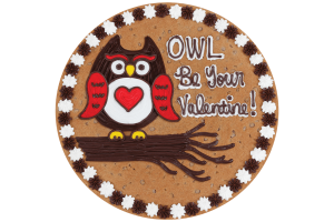 Owl Be Your Valentine Cookie Cake