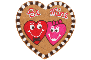 Be Mine Two Hearts Cookie Cake