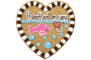 Hooked On You Cookie Cake