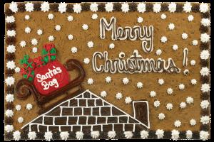 Santa's sleigh Cookie Cake