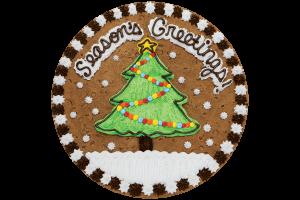 Seasons Greeting Tree Cookie Cake