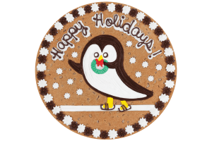 Happy Holidays Penguin Cookie Cake