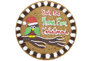 Owl Be Home for Christmas Cookie Cake
