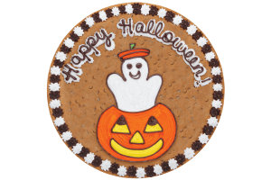Ghost in Pumpkin Cookie Cake