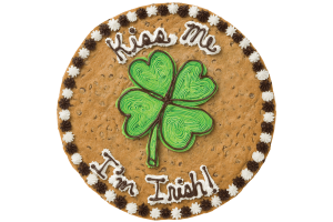 Kiss Me I'm Irish Cookie Cake