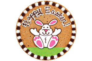 Happy Easter Bunny Cookie Cake