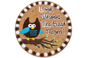 Look Whoo's The Best Mom Cookie Cake