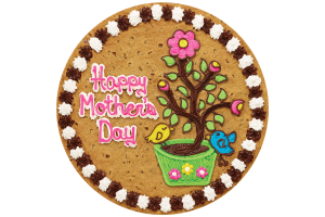 Mother's Day Flowers and Birds Cookie Cake
