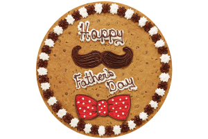 Mustache and Bow Tie Cookie Cake