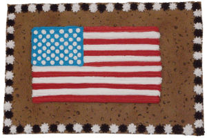 US Flag Cookie Cake