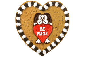 Be Mine Dog Cookie Cake