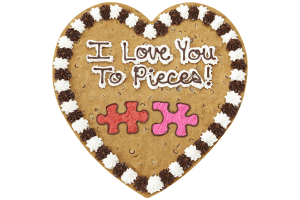 I Love You to Pieces Cookie Cake