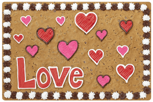 Love Hearts Cookie Cake