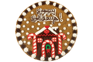 Gingerbread House Cookie Cake