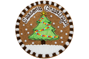 Seasons Greeting Tree Cookie Cake