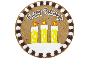 Happy Holidays Candles Cookie Cake
