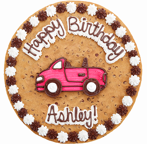 Happy Birthday cake with car