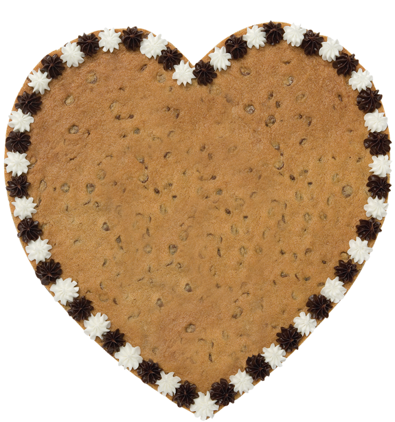 heart-shaped cookie cake